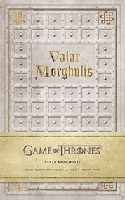 Game of Thrones  Valar Morghulis Hardcover Ruled Journal
