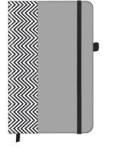 Herringbone SoftTouch Notebook small 9x14