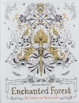 Enchanted Forest : 12 Colour-in Notecards