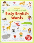 First Sticker Book Easy English Words