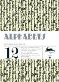 Alphabets gift wrap