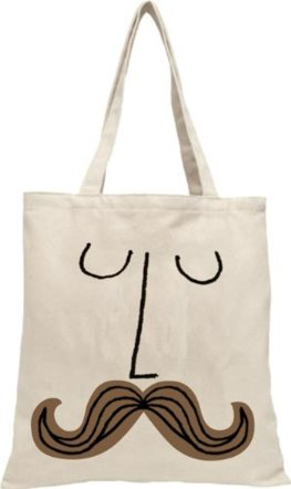 Mad Hatter Mustache Face Tote Bag