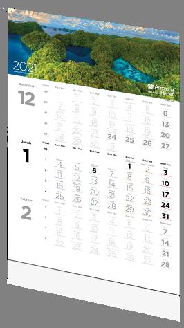 Trojmesačný kalendár Amazing planet 2021