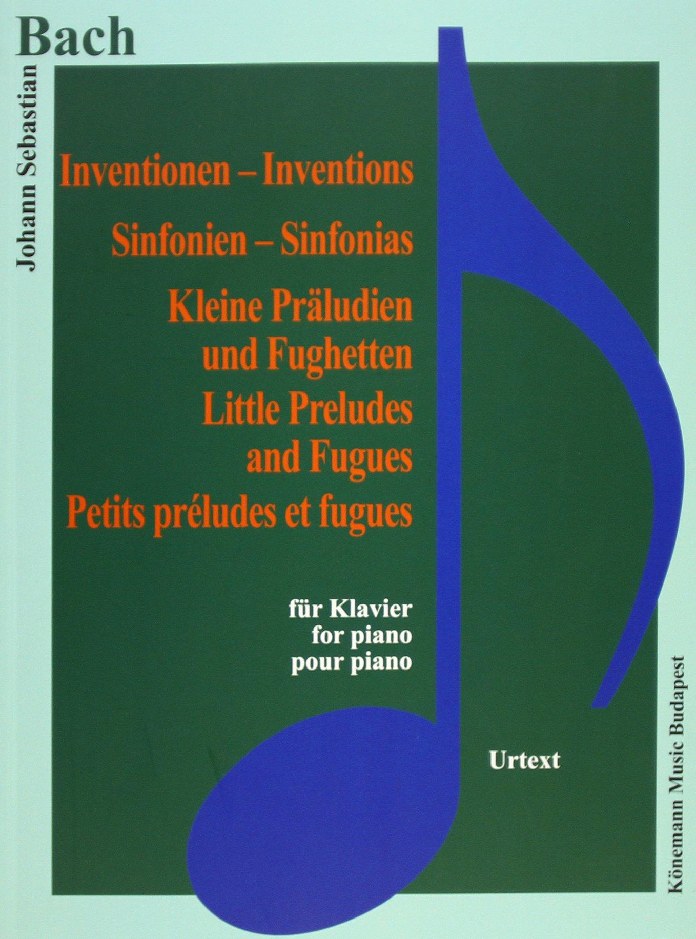 Bach JS  Inventionen, Sinfonien, kleine Preludien und Fughetten